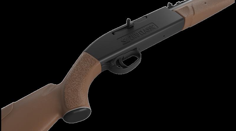 Crosman® 2100 Classic .177 Pellet / BB Pneumatic Pump Air Rifle, Brown