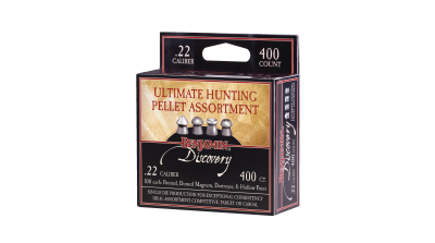 Benjamin Discovery Ultimate Hunting Pellet Assortment (.22) box angled