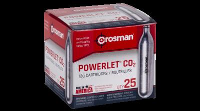 Crosman Powerlet CO2 Cartridges (25ct) box angled