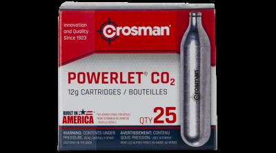 Crosman Powerlet CO2 Cartridges (25ct) box