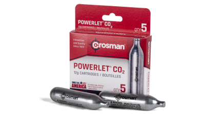 Powerlet® CO2 (5ct) cartridges with box