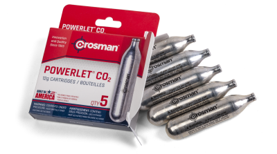 Powerlet® CO2 (5ct) all cartridges with box