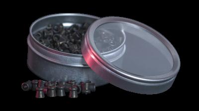 Crosman Black Widow Pellet (.177) open tin and spilled pellets