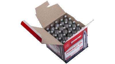 Crosman Powerlet CO2 Cartridges (25ct) open box