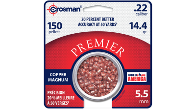 Crosman Copper Magnum Domed Pellet (.22) tin in card