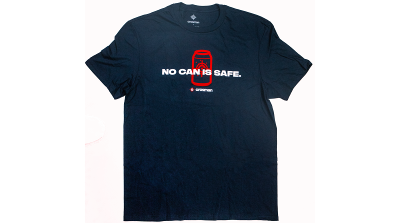 Crosman Logo Tee - No Can Is Safe, Short Sleeve