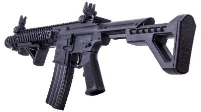 DPMS SBR Full Auto BB Air Rifle facing left angled back