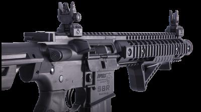 DPMS SBR Full Auto BB Air Rifle zoomed