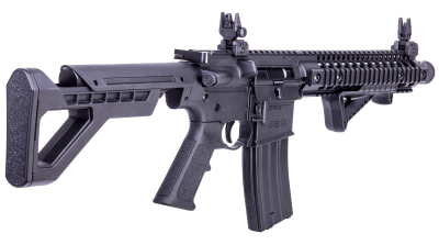 DPMS SBR Full Auto BB Air Rifle facing right angled back