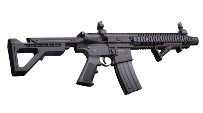 DPMS SBR Full Auto BB Air Rifle angled and tilted