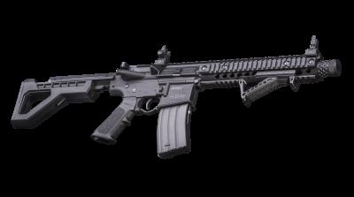 DPMS SBR Full Auto BB Air Rifle tilted