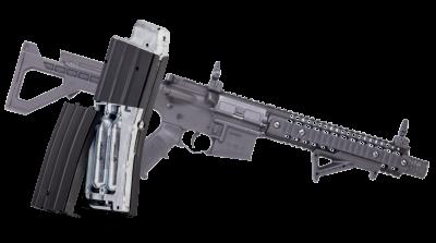 DPMS SBR Full Auto BB Air Rifle with cartridges