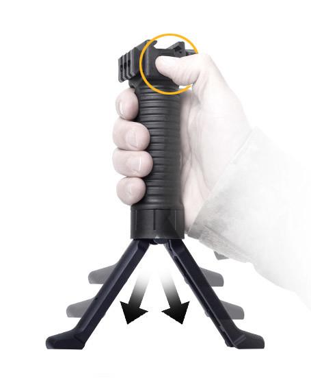 Quick Release Bipod Grip