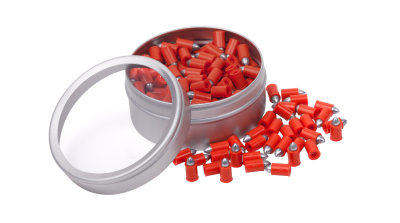 Crosman Fast Flight Penetrator (.177) open tin and spilled pellets