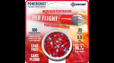 Crosman Red Flight Penetrator (.22) tin in card
